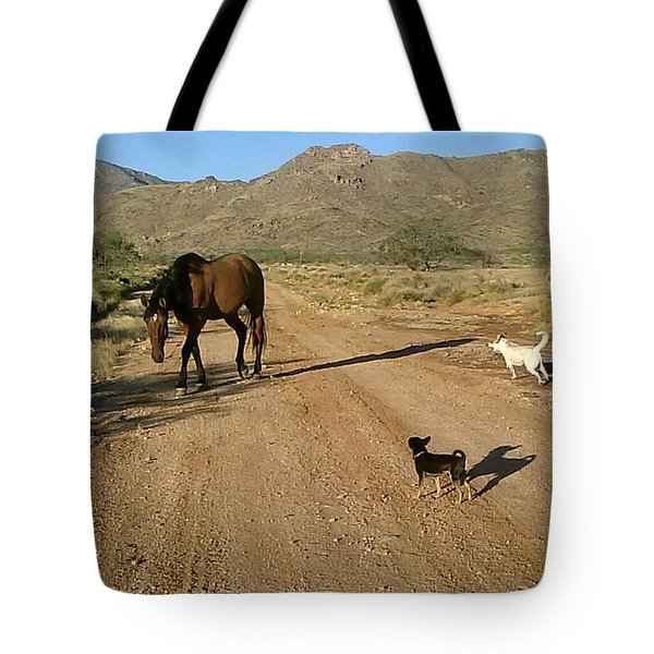 Three Friends On The Range Tote Bag