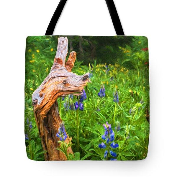 Wildflowers Tote Bag by Sharon Seaward