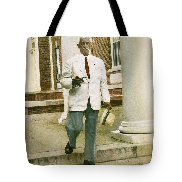 Tote Bag featuring the photograph William Faulkner (1897-1962) by Granger