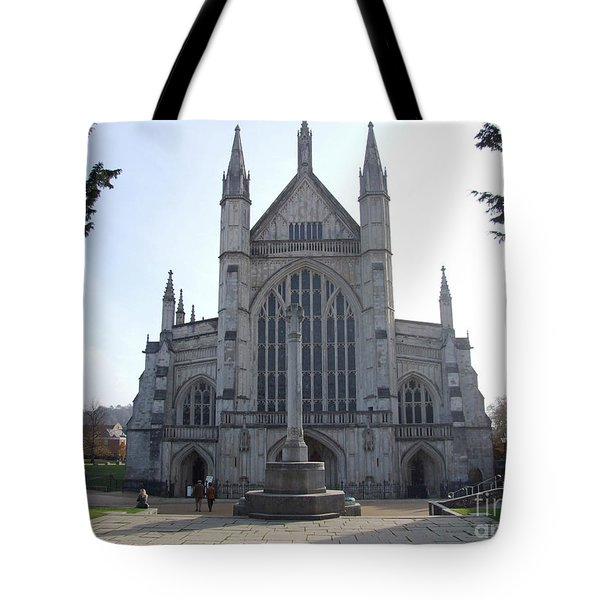 Tote Bag featuring the photograph Winchester Cathedral - England by Phil Banks