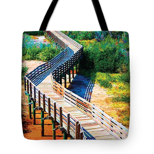 Winding Path In Blue Bloom Tote Bag