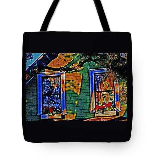 2 Windows 1 Heart Tote Bag