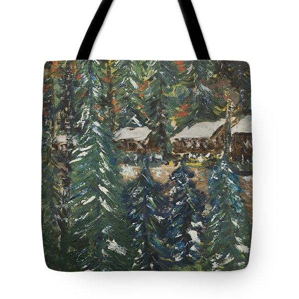 Winter Has Come To Door County. Tote Bag