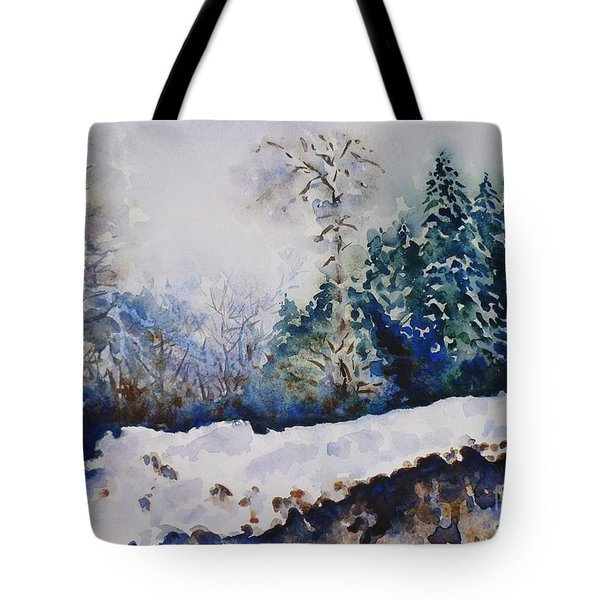 Winter In Dombay Tote Bag by Zaira Dzhaubaeva