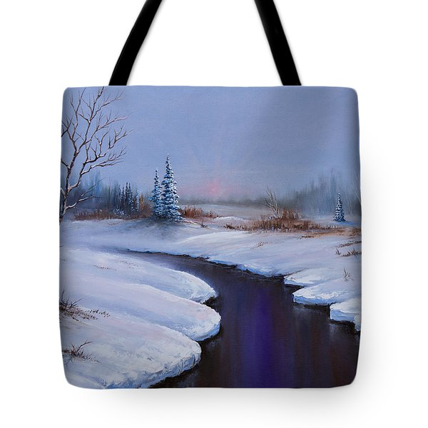 Winter Stillness Tote Bag by C Steele