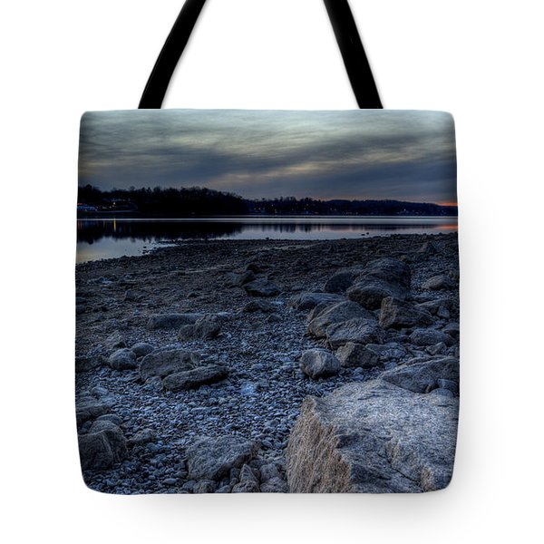 Winter Sunset On The Lake Tote Bag