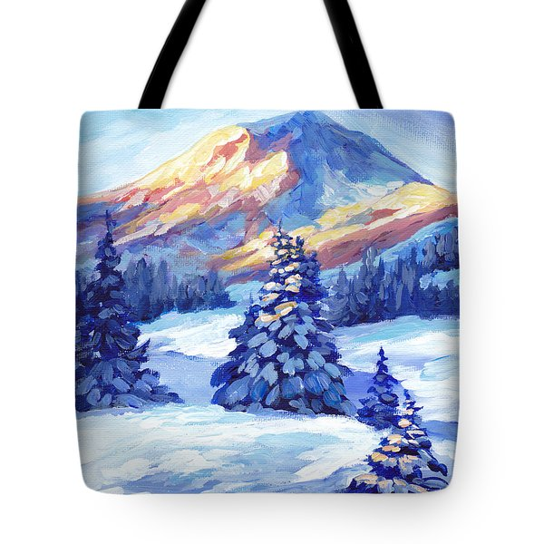 Winter Sunset  Tote Bag by Peggy Wilson