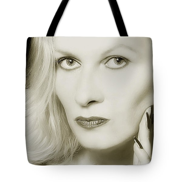Woman Tote Bag by Christine Sponchia