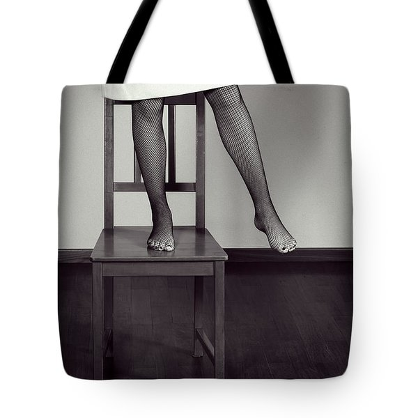 Woman On Chair Tote Bag by Joana Kruse
