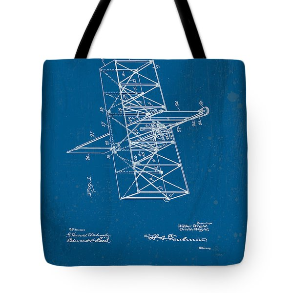 Wright Brothers Flying Machine Patent Tote Bag