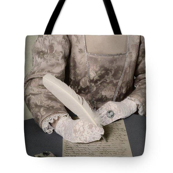 Writing Tote Bag by Joana Kruse