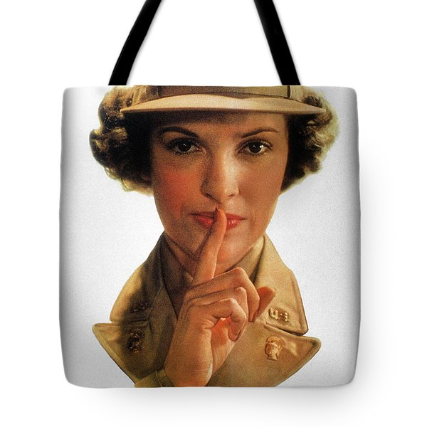Wwii: Careless Talk Poster Tote Bag by Granger