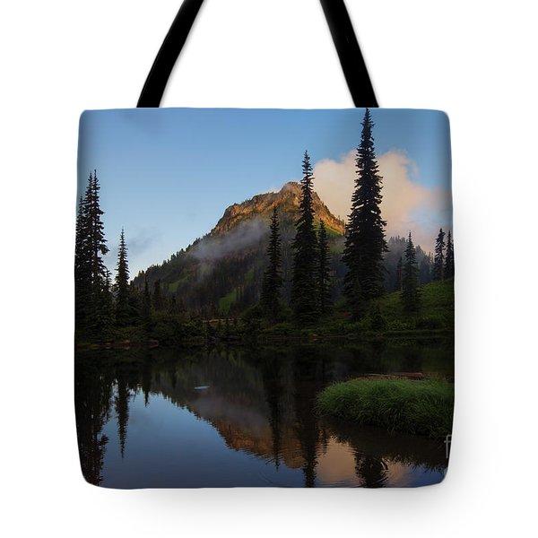 Yakima Peak Reflections Tote Bag by Mike  Dawson