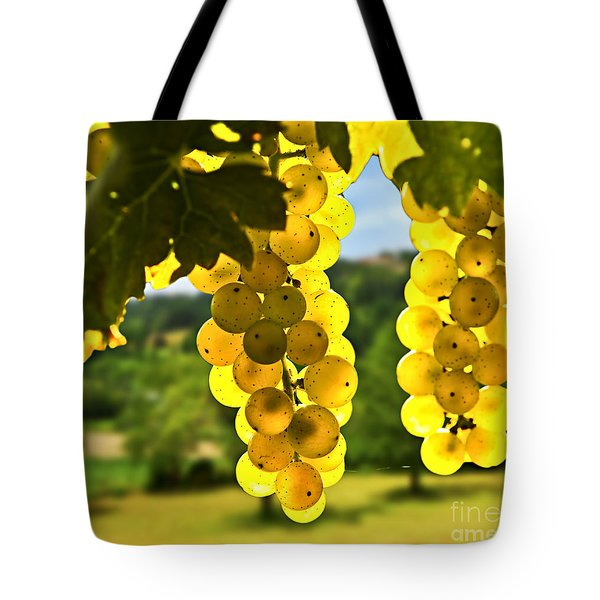 Yellow Grapes Tote Bag