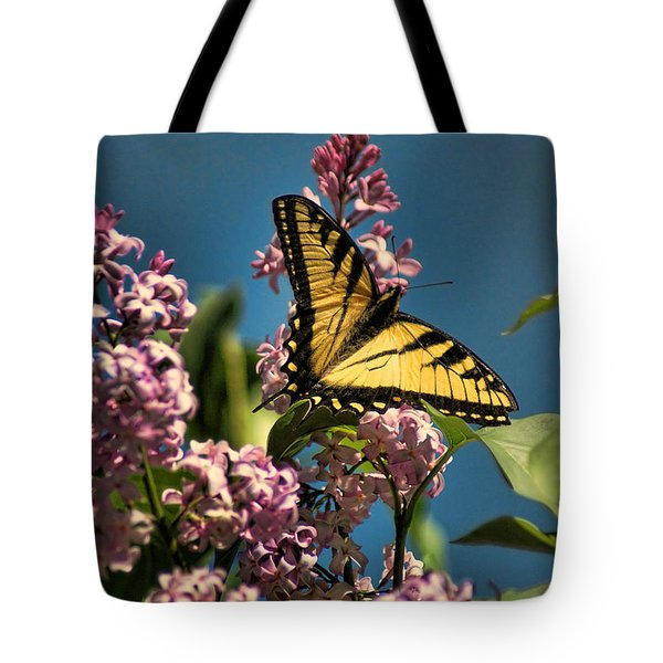 Yellow Swallowtail Tote Bag