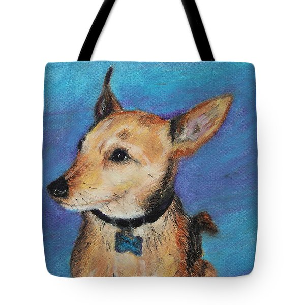 Tote Bag featuring the painting Zack by Jeanne Fischer