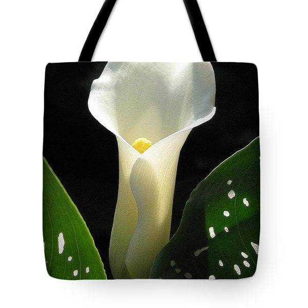 Zantedeschia Named Little Jimmy Tote Bag