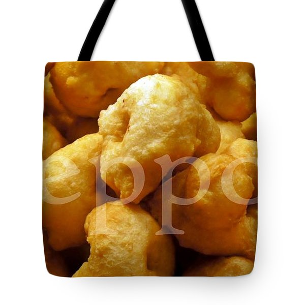 Tote Bag featuring the photograph Zeppoli by Lilliana Mendez