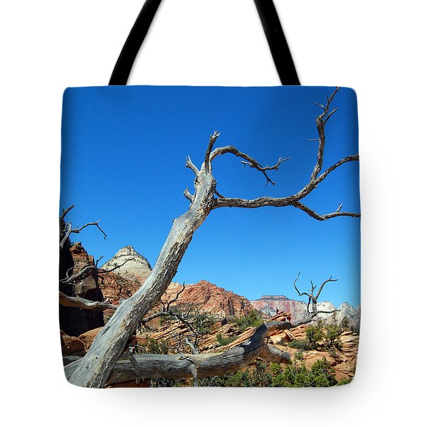 Zion Reaching Tree Tote Bag by Debra Thompson