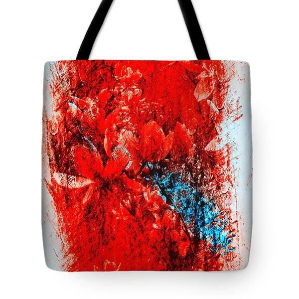 Magnolias In Crazy Abstract Tote Bag