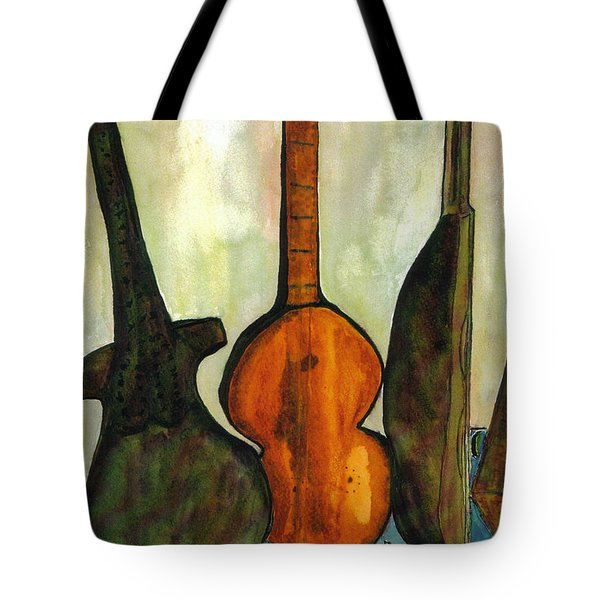Tote Bag featuring the painting 200 Year Old Compostition by Lesley Fletcher