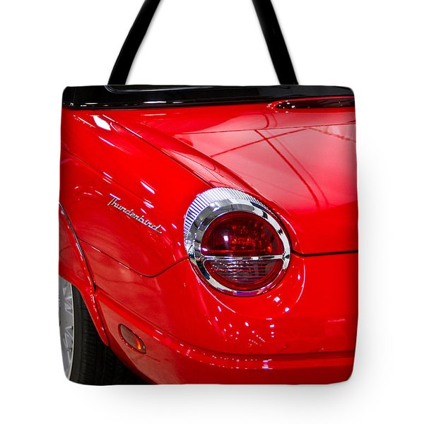 2002 Red Ford Thunderbird-rear Left Tote Bag