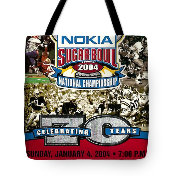 2004 National Championship Ticket - Lsu Vs Oklahoma Tote Bag by David Patterson