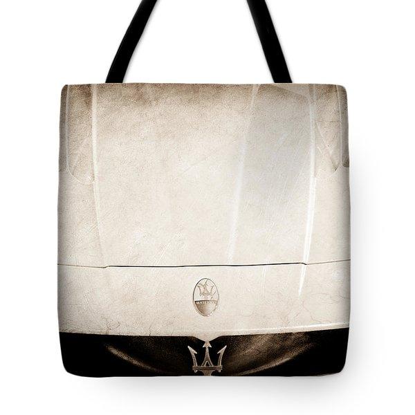 2005 Maserati Mc12 Hood Ornament Tote Bag by Jill Reger