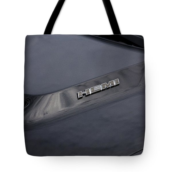 2011 Dodge Challenger Rt Black Tote Bag