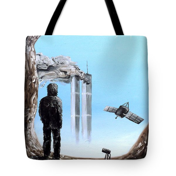 Tote Bag featuring the painting 2012-confronting Inevitability by Ryan Demaree