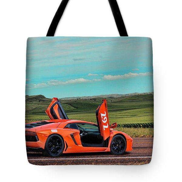 2012 Lamborghini Aventador Tote Bag