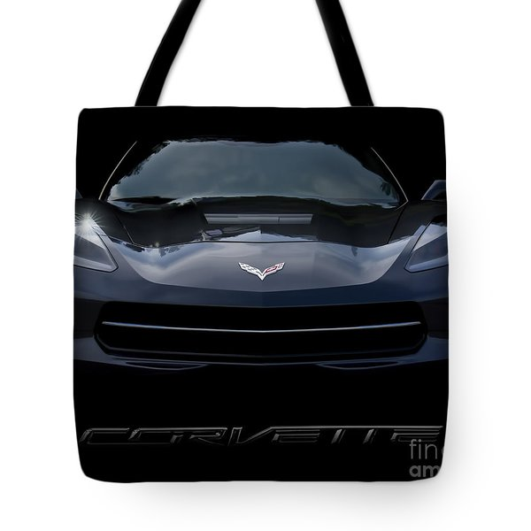 2014 Corvette With Emblem Tote Bag