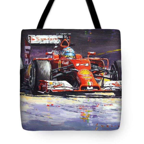 2014 Ferrari F14t Fernando Alonso  Tote Bag