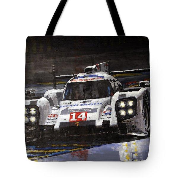 2014 Le Mans 24 Porsche 919 Hybrid  Tote Bag