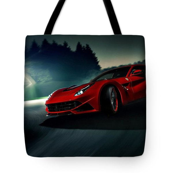 2014 Novitec Rosso Ferrari F12 Berlinetta N Largo Tote Bag by Movie Poster Prints
