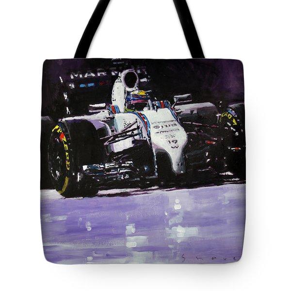 2014 Williams F1 Team Fw 36 Felipe Massa  Tote Bag