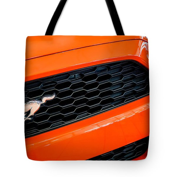 2015 Ford Mustang Prototype Grille Emblem -0092c Tote Bag by Jill Reger