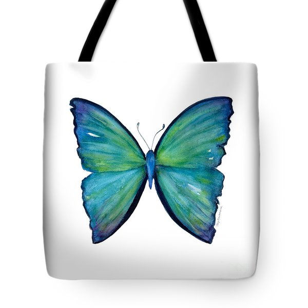 21 Blue Aega Butterfly Tote Bag