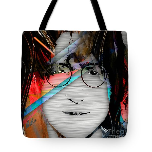John Lennon Collection Tote Bag by Marvin Blaine
