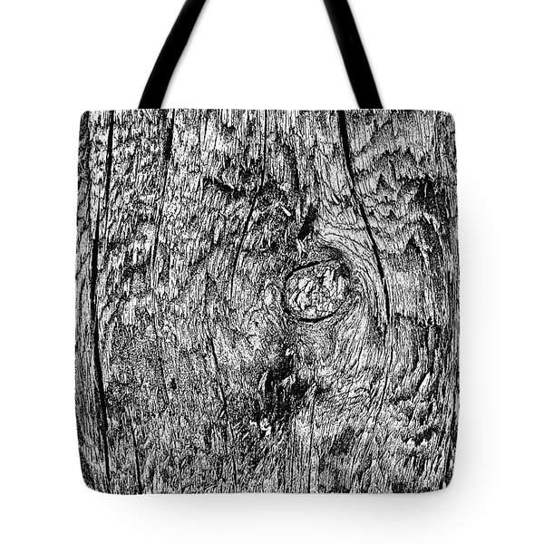 Wooden Post B 'n' W Tote Bag