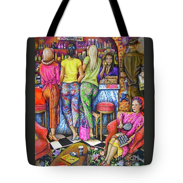 Shop Talk Tote Bag by Linda Simon