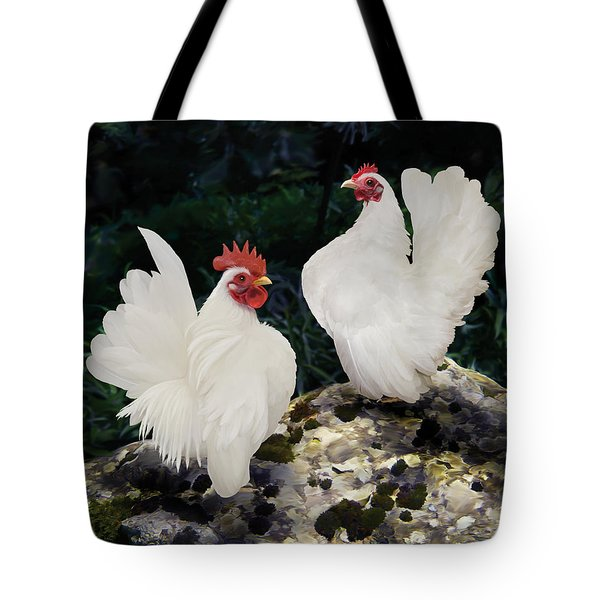 23. Pair White Serama Tote Bag
