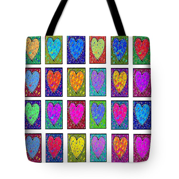 24 Hearts In A Box Tote Bag