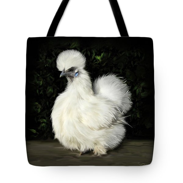 24. Tiny White Silkie Tote Bag