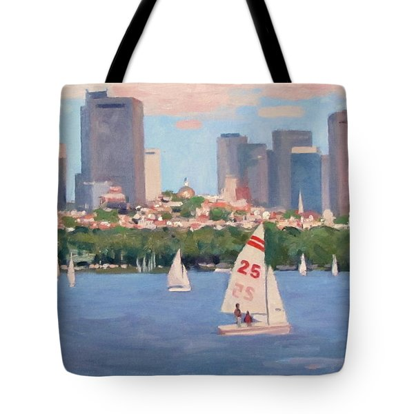 25 On The Charles Tote Bag by Dianne Panarelli Miller