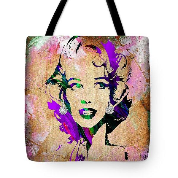 Marilyn Monroe Diamond Earring Collection Tote Bag