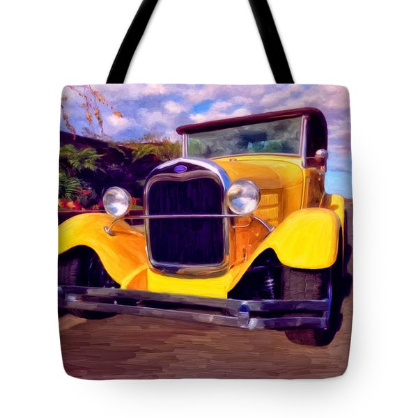 Tote Bag featuring the painting '28 Ford Pick Up by Michael Pickett