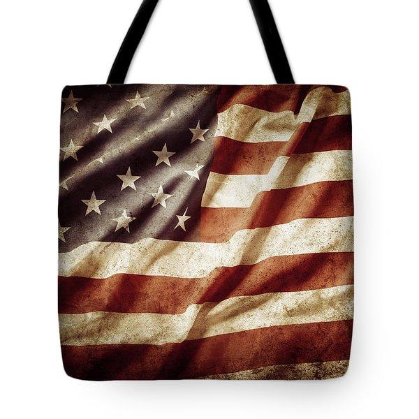 American Flag 53 Tote Bag