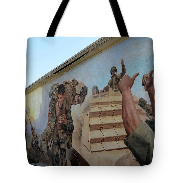 29 Palms Mural 4 Tote Bag by Bob Christopher