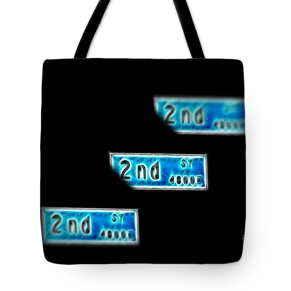 Tote Bag featuring the photograph 2nd Street Long Beach by Mariola Bitner